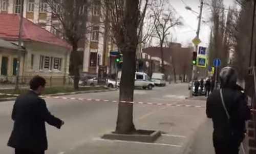 Взрыв произошел в центре Ростова-на-Дону, около школы № 5, взрывное устройство было замаскировано под фонарик