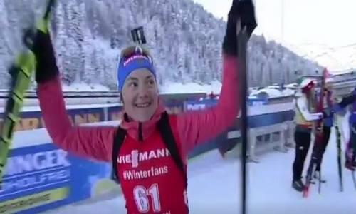 Екатерина Юрлова, бронза в спринте в Хохфильцене