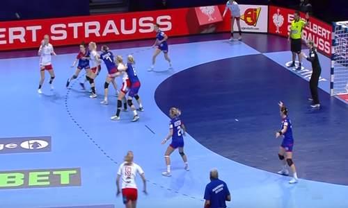 Россия-Дания, чемпионат Европы 2018 по гандболу