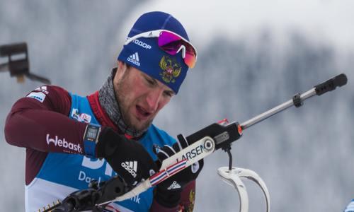 Российский биатлонист Максим Цветков