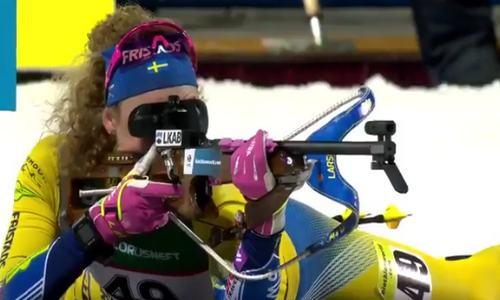 Шведская биатлонистка Ханна Эберг завоевала золото ЧЕ 2019 в женской индивидуальной гонке