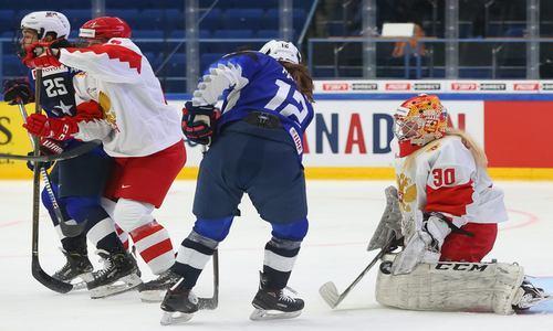 Россия-США, женский ЧМ 2019 по хоккею