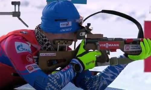 Александр Логинов, гонка преследования, ЧМ 2020