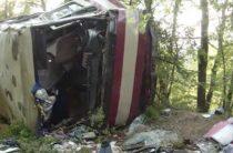 Четверо жителей Волгоградской области пострадали при падении пассажирского автобуса с обрыва в Крыму 11 августа