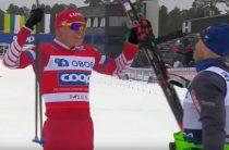 Российский лыжник Александр Большунов выиграл скиатлон на втором этапе Кубка мира 2019/2020 в Лиллехаммере