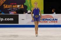 Российская фигуристка Анна Щербакова выиграла 4-й этап Гран-при 2019 в женском одиночном катании и вышла в финал турнира
