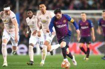 Испанская «Барселона» разгромила «Манчестер Юнайтед» и вышла в полуфинал Лиги чемпионов 2018/2019