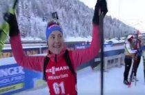 Прямая трансляция женской гонки преследования 22 декабря на третьем этапе КМ по биатлону пройдет на канале «Матч! Арена»