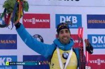 Мартен Фуркад завоевал золото в мужской гонке преследования на 5-м этапе КМ по биатлону 2019/2020 в Рупольдинге