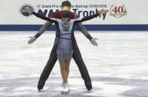 Наталья Забияко и Александр Энберт стали вторыми в короткой программе у пар в финале Гран-при 2018 по фигурному катанию