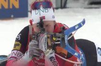 Норвежская биатлонистка Марте Рёйселанд выиграла женский спринт 14 февраля на 8-м этапе КМ 2018/2019 в США