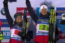 Норвежские биатлонисты Марте Рёйселанд и Йоханнес Бё выиграли супермикст на ЧМ 2019 в Эстерсунде