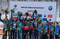Сборная Норвегии завоевала золото в мужской эстафете 18 января на этапе КМ по биатлону, Россия-пятая