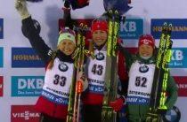 Анастасия Кузьмина выиграла золото в женском спринте 8 марта на чемпионате мира 2019 по биатлону