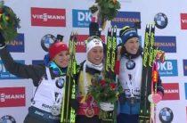 Норвежская биатлонистка Тириль Экхофф выиграла женскую гонку преследования 19 января на 5-м этапе КМ 2019/2020 в Рупольдинге