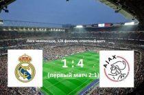«Аякс» разгромил «Реал» и вышел в четвертьфинал футбольной Лиги чемпионов 2018/2019