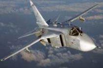 Новейший фронтовой бомбардировщик Су-34 опрокинулся при посадке на аэродроме под Воронежем